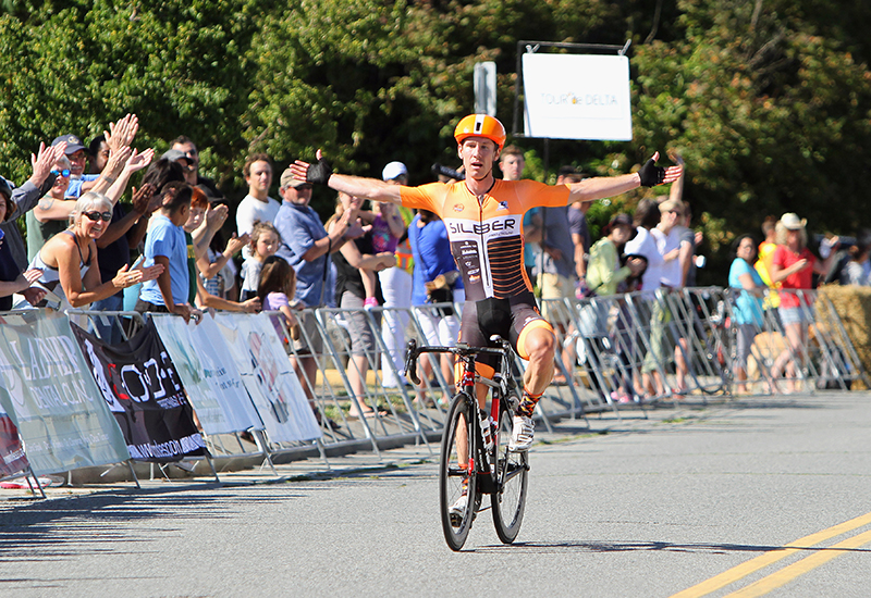 Ryan ROTH (Silber Pro Cycling) wins the Tour de Delta road race.
